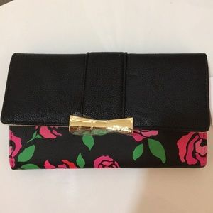 Betsey Johnson Bags - New Large Betsey Johnson Roses Wallet with flap